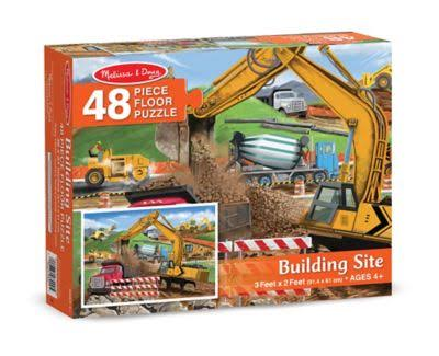 Melissa and Doug Floor Puzzle - Building Site, 48pcs