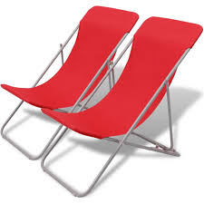 VidaXL Folding Beach Chairs 2 Pcs Powder-coated Steel Red ... Costway Outdoor Rocking Lounge Chair Larch Wood Beach Yard Patio Lounger W Headrest 1pc Fniture For Barbie Doll Use Of The Kids Beach Chairs To Enhance Confidence In Wooden Folding Camping Chairs On Wooden Deck At Front Lweight Zero Gravity Rocker Backyard 600d South Sbr16 Sheesham Relaxing Errecling Foldable Easy With Arm Rest Natural Brown Finish Outdoor Rocking Australia Crazymbaclub Lovable Telescope Casual Telaweave