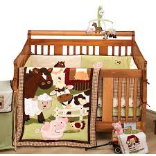 a barnyard full of fun with nojo farm babies 5 piece crib bedding