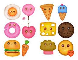 Cute Kawaii Food Iconos Y Pngs
