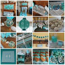 My Wedding Shower Turquoise Beach Themed Tea Party