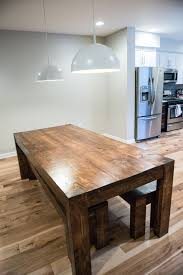 Creative Of Rustic Dining Table And Bench Penn Rustics Modern Farmhouse Room