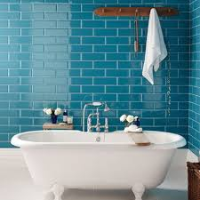 great blue bathroom wall tile also decorating home ideas with blue