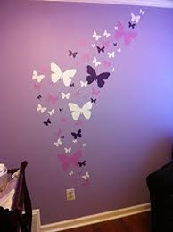Create A Mural Butterfly Wall Decals Lavender Lilac White