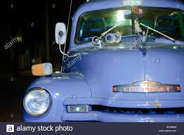 100 Truck Horns Old Classic American Blue Chevrolet Truck With Horns In Cuba Stock
