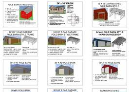 Gambrel Shed Plans 16x20 by Gambrel Roof Pole Barn Plans Gambrel 16 X 20 Shed Plan Pole Barn