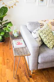 Karlstad Sofa New Legs by Hairpin Leg Side Table Tutorial Going Home To Roost