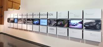 Photo Of A Wall Showing Visual Timeline 100 Years BMW