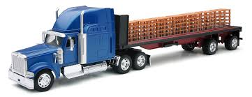 Toy Truck: Toy Truck Flatbed Amazoncom Peterbilt Truck With Flatbed Trailer And 2 Farm Tractors 116th Big Farm John Deere Ram 3500 Dually Skidloader 5th Red Race Car Hot Wheels Crashin Big Rig Blue Shop Express 1100 Germany 1957 Hmkt Antique Cast Iron Toy Flatbed Truck 116 Model 367 Farmall Wood Toy Plans Semi Youtube Ertl New Holland T7030 Tractor Lego City 60017 Walmartcom Antique Vintage Dinky Toys Supertoys Foden Chains Intertional Durastar 4400 Flat Bed Tow