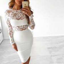 club lace dress 2017 white black embroidery floral celebrity