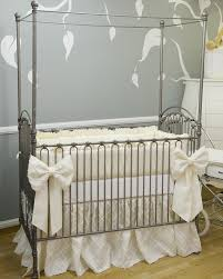 Bratt Decor Crib Skirt by The Diamond Collection Silk Crib Bedding With Overlay Overlay