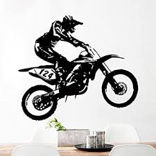 wandtattoos wandbilder möbel wohnen dirt bike trick