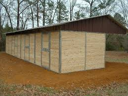 Shed Row Barns For Horses by Lonestar Custom Barns
