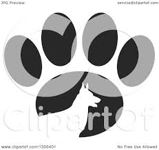 German Shepherd Pumpkin Stencils Free by Clipart Of A White Silhouetted German Shepherd Dog In Profile Over
