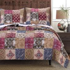 Greenland Home Bedding by Charmed Quilt Set Gl 1608cmst Traditional Country Quilt Sets