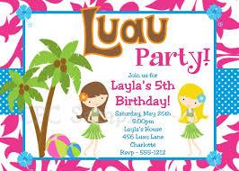 Luau Pool Party Invitations Luau Party Invitations Pool Party