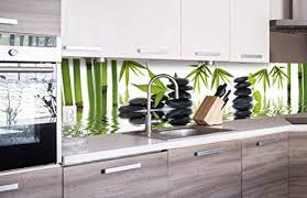 dimex line küchenrückwand folie selbstklebend zen steine klebefolie dekofolie spritzschutz für küche premium qualität made in eu 260 cm x