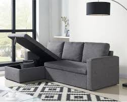 cdiscount canapé d angle convertible canapé d angle aspen convertible en tissu gris chiné à 299