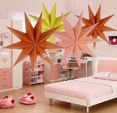 30cm 6 Nine Angles Paper Star Decoration Tissue Lantern Hanging Stars For Christmas Party Outdoor Decorations