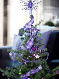 Christmas Tree Decorations Ideas Youtube by Themed Christmas Trees And On Pinterest Purple Silver Tree Idolza
