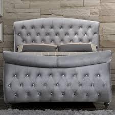 Velvet Super King Headboard by Rustic Wood Grey Tufted Velvet Headboard Headboards Furniture For