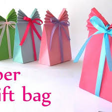 Diy Crafts Paper Gift Bag Easy Innova Youtube Throughout How To Make Handmade Bags At Home Step By