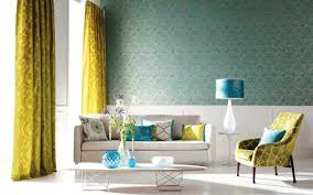curtains blue wallpaper taupe brown curtains bedroom cool