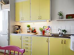 Stadshem Yellow KitchensGalley KitchensRetro Kitchens50s