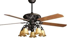 Rustic Style Ceiling Fan With Light Antique Fans