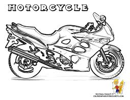 Cool Motorcycle Coloring Pages Free At YesColoring