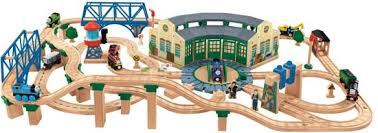 tidmouth shed deluxe train set in thomas box by fisher price toys