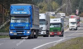 100 German Trucks Humanitarian Aid Convoy Ukraine Drive Editorial Stock