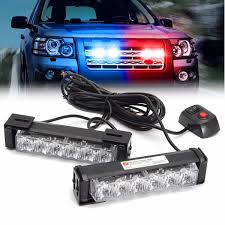 2 In 1 LED Strobe Lights Front Grille Flashlight Warning Lamp 6W For ...