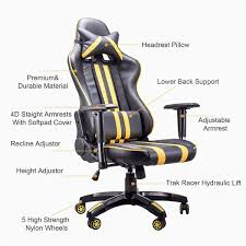 Office Chair With Lumbar Support Unique Pro Racing Gaming Chairs ... Best Rated In Video Game Chairs Helpful Customer Reviews Amazoncom Home Gaming Buy At Price Budget Chair 2019 Cheap Comfortable Gavel For Big Men The Tall People Heavy Pc Under 100 Inr Gadgetmeasure Top 10 Of Expert Product Reviewer Pc Computer Adults Updated Read Before You Ficmax High Back That Wont Break Your Bank Popular S300 Astral Yellow Nitro Concepts 12 2018