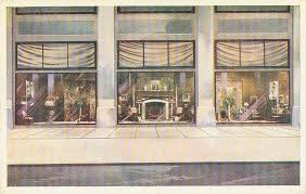 POSTCARD CHICAGO MARSHALL FIELD STORE WINDOW DISPLAY THREE