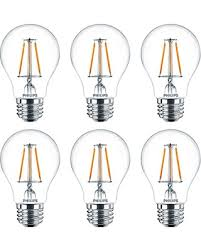 get the deal philips led 470799 a19 clear glass dimmable filament