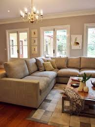 large sectional area with light brown tones home
