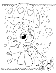 Coloring Pages For Girls My Little Pony Princess