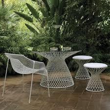 Collection in White Metal Outdoor Furniture Metal Garden Furniture