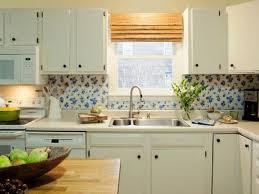 easy diy kitchen backsplash with vinyl tablecloth ideas