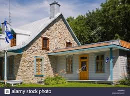 100 Fieldstone Houses 1810 Old Canadiana Fieldstone House With Blue And Orange Trim In