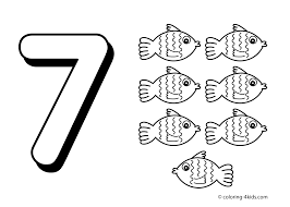 7 Numbers Coloring Pages For Kids Printable Free Digits Books
