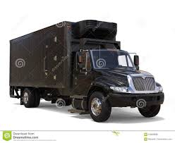 Black Refrigerator Truck With Black Trailer Unit Stock Illustration ...