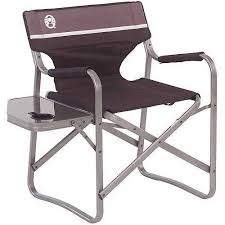 Aluminum Directors Chair With Swivel Desk by Coleman Deck Chair With Folding Table Walmart Com