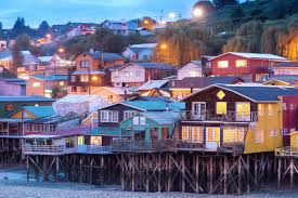 100 Houses In Chile Traditional Stilt Known As Palafitos In Castro Chiloe Island