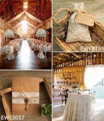 Rustic Lace Folded Wedding Invitations With Vintage Keys EWLS057 Elegant Barn Ideas