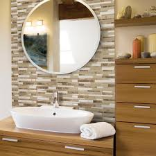 Home Depot Wall Tile Sheets smart tiles bellagio sabbia 10 06 in w x 10 00 in h peel and