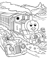 Thomas The Train Coloring Pages New Printable