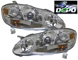 03 08 toyota corolla altis chrome projector headlights ebay