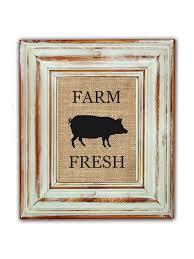 Farm Fresh Pig Kitchen Decor Rustic By FarmToFrontPorch 1600